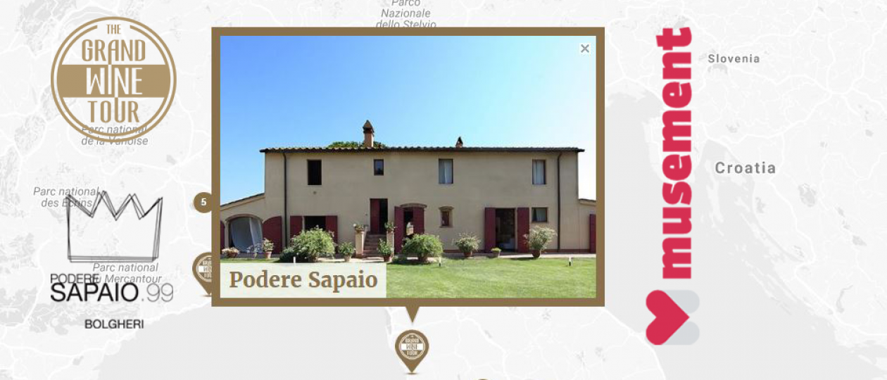 The Grand Wine Tour: Podere Sapaio proves to be an emotional experience for visitors to Italy.