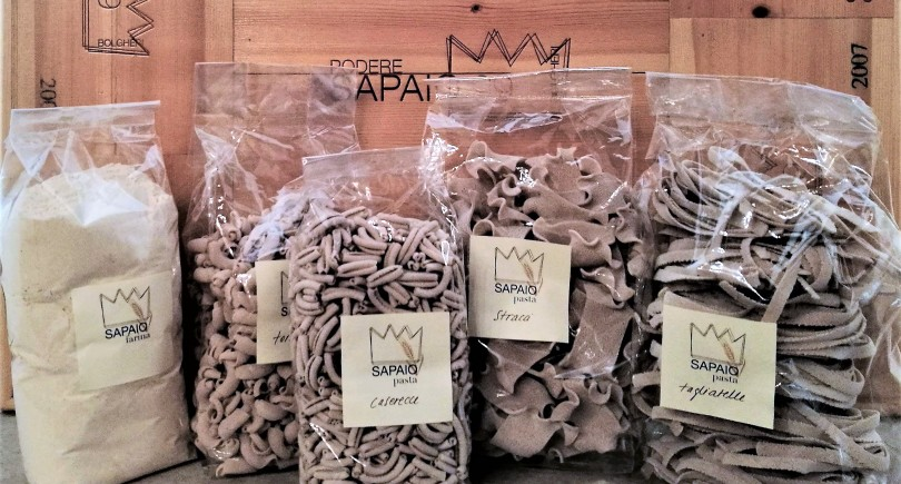 Podere Sapaio pasta – innovation and sustainability.