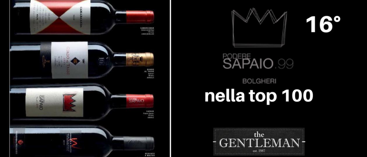 Podere Sapaio featured in Gentleman Magazine's Top 100 Italian red wines.