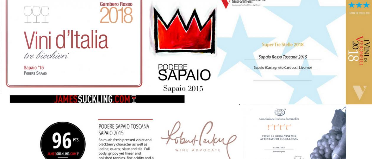 Sapaio 2015, a successful wine!