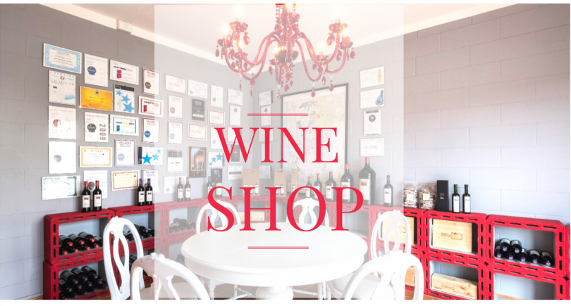 Welcome to Podere Sapaio Wine Shop.